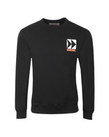 Diesel Mens Black BMOWT Willy Sweatshirt