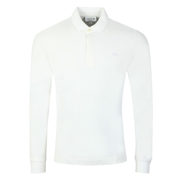 Lacoste Mens White L/S Paris Polo Shirt main image