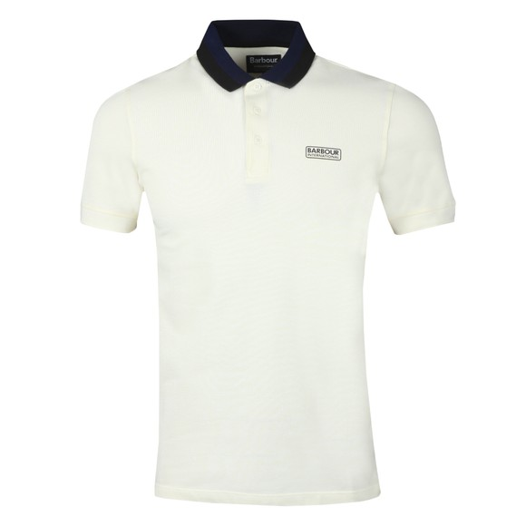 Barbour International Mens White Ampere Polo Shirt