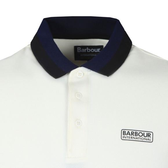 Barbour International Mens White Ampere Polo Shirt main image