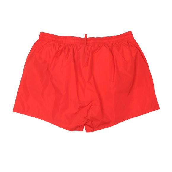 Dsquared2 Mens Red Big Logo Swim Short