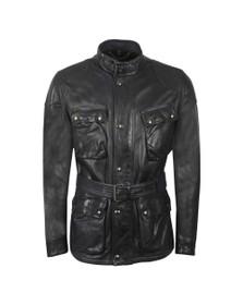 Belstaff Mens Blue Trialmaster Panther Leather Jacket