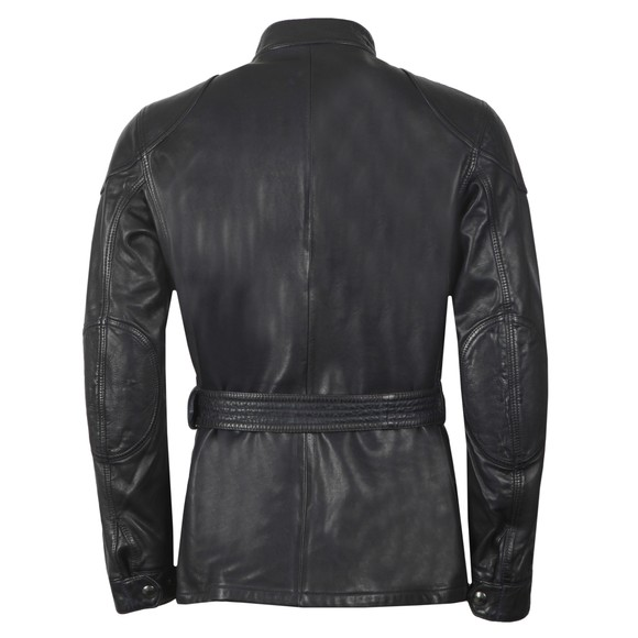 Belstaff Mens Blue Trialmaster Panther Leather Jacket main image