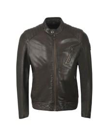 Belstaff Mens Brown V  Racer Leather Blouson