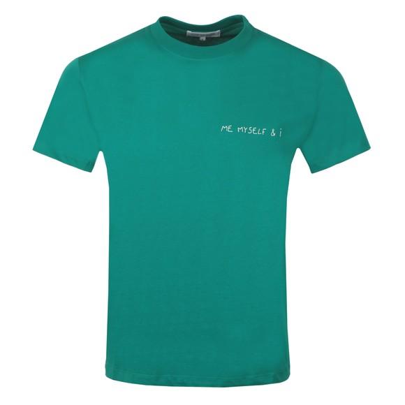 Maison Labiche Mens Green Me Myself & I Heavy T Shirt