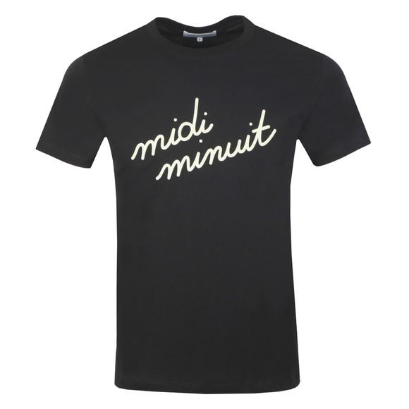 Maison Labiche Mens Black Midi Minuit Heavy T Shirt