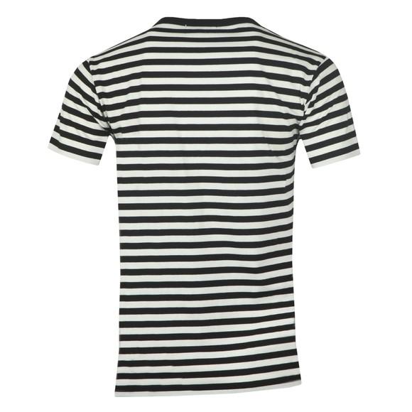 Maison Labiche Mens Black Striped Newspaper T Shirt main image