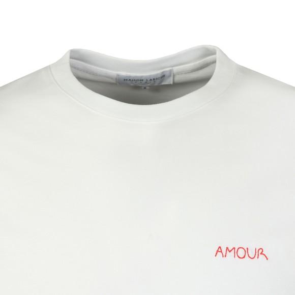 Maison Labiche Mens White Amour T-shirt main image