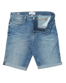 Calvin Klein Mens Blue Denim Short