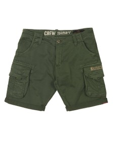 Alpha Industries Mens Green Crew Cargo Short