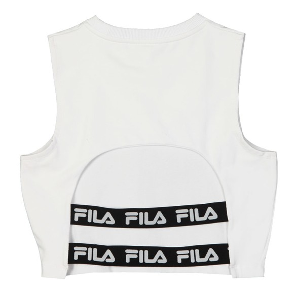 Fila Womens White Inez The Back Crop Top main image