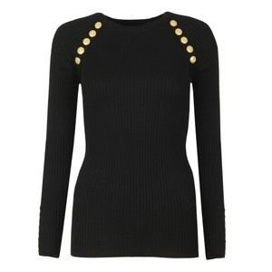 Raglan Ribbed Button Knitted Jumper