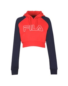 Fila Womens Red Valeria Colour Block Raglan Hoody