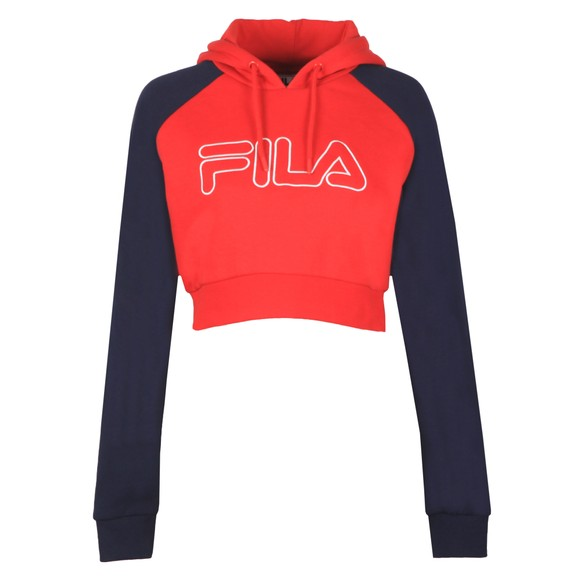 Fila Womens Red Valeria Colour Block Raglan Hoody main image