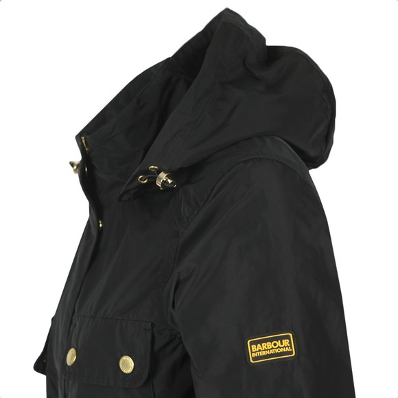 Barbour International Womens Black Curveball Showerproof Jacket main image