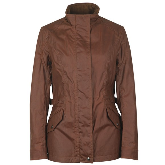 Belstaff Womens Brown Adeline Wax Jacket