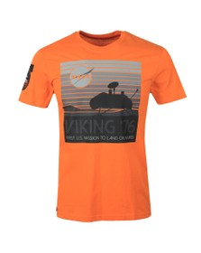 Alpha Industries Mens Orange Viking 76 T Shirt