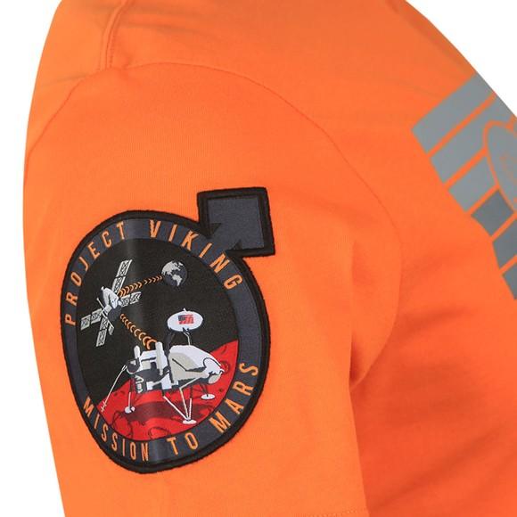 Alpha Industries Mens Orange Viking 76 T Shirt