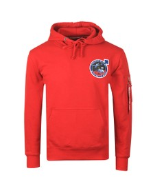 Alpha Industries Mens Red Viking Pioneer Hoody