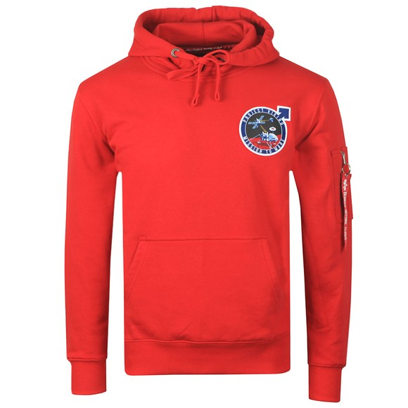 Alpha Industries Mens Red Viking Pioneer Hoody main image