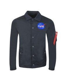 Alpha Industries Mens Blue NASA Coach Jacket
