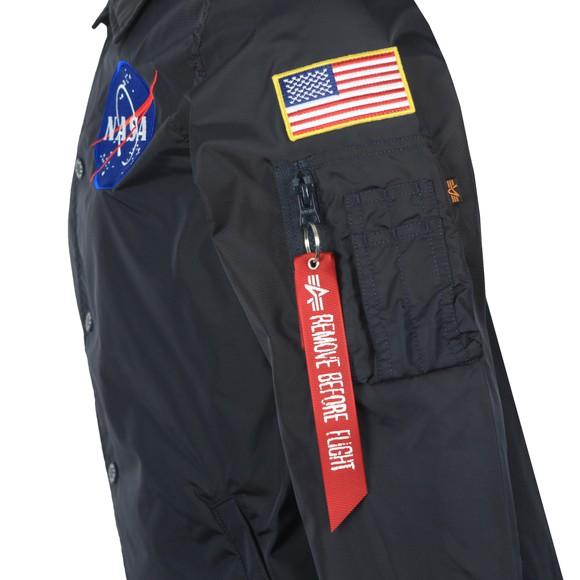 Alpha Industries Mens Blue NASA Coach Jacket
