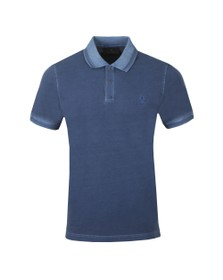 Belstaff Mens Blue Short Sleeve Polo Shirt