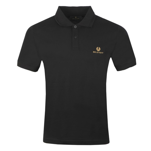 Belstaff Mens Black Short Sleeve Polo Shirt