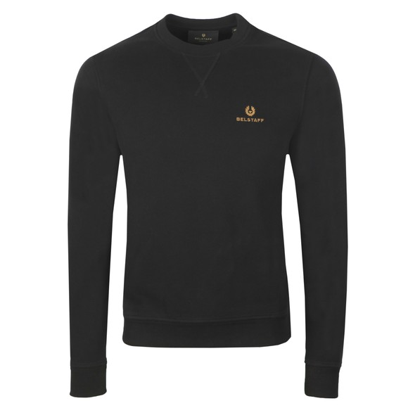 Belstaff Mens Black Small Logo Sweatshirt