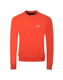 Belstaff Mens Orange Small Logo Sweatshirt