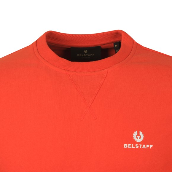 Belstaff Mens Orange Small Logo Sweatshirt