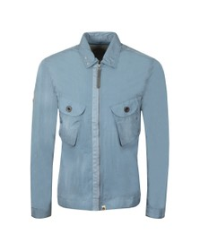 Pretty Green Mens Blue Two Pocket Zip Overshirt