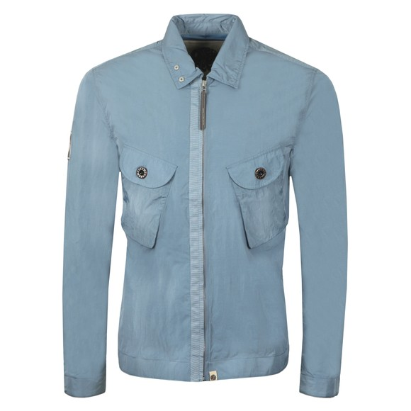 Pretty Green Mens Blue Two Pocket Zip Overshirt main image