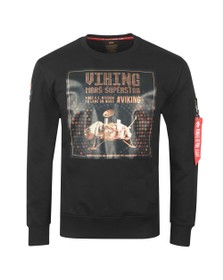 Alpha Industries Mens Black Viking Superstar Sweatshirt