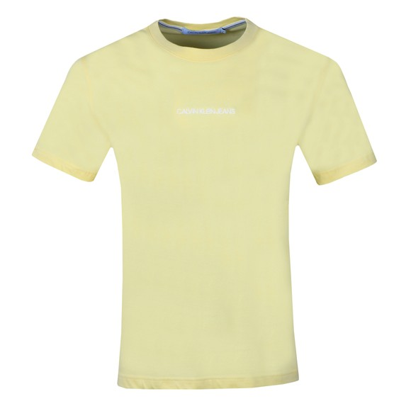 Calvin Klein Jeans Mens Yellow Chest Logo T-Shirt