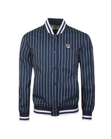 Fila Mens Blue Lakeland In Striped Bomber Jacket