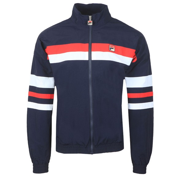 Fila Mens Blue Tyrell Colour Block Track Jacket