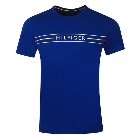 Tommy Hilfiger Mens Blue Corp Hilfiger T-Shirt