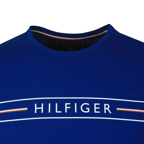 Tommy Hilfiger Mens Blue Corp Hilfiger T-Shirt main image