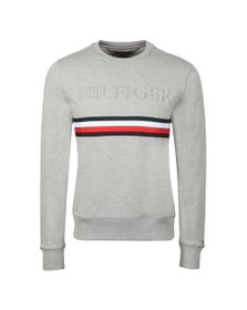 Tommy Hilfiger Mens Grey Embossed Sweatshirt