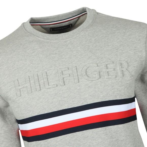 Tommy Hilfiger Mens Grey Embossed Sweatshirt main image
