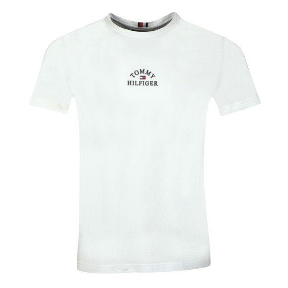 Tommy Hilfiger Mens White Arch T-Shirt