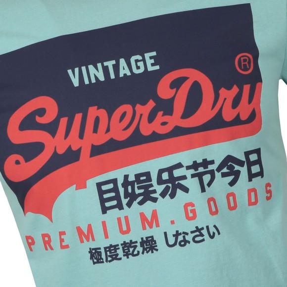 Superdry Mens Green VL O T-Shirt main image