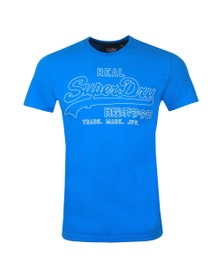 Superdry Mens Blue VL Outline Pop T-Shirt