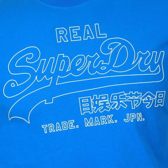 Superdry Mens Blue VL Outline Pop T-Shirt main image