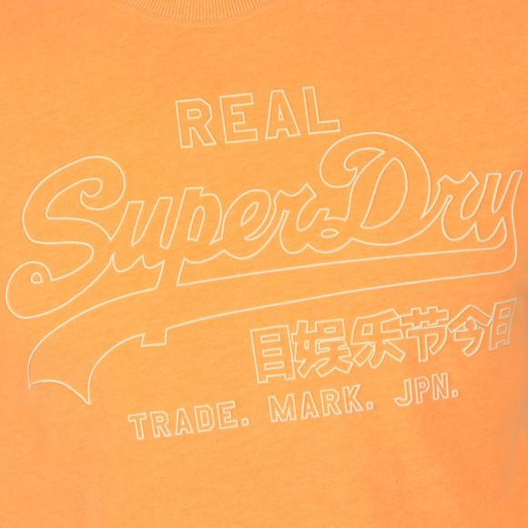 Superdry Mens Orange VL Outline Pop T-Shirt main image