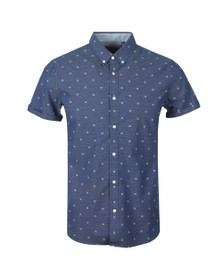 Superdry Mens Blue Classic Shoreditch Print SS Shirt