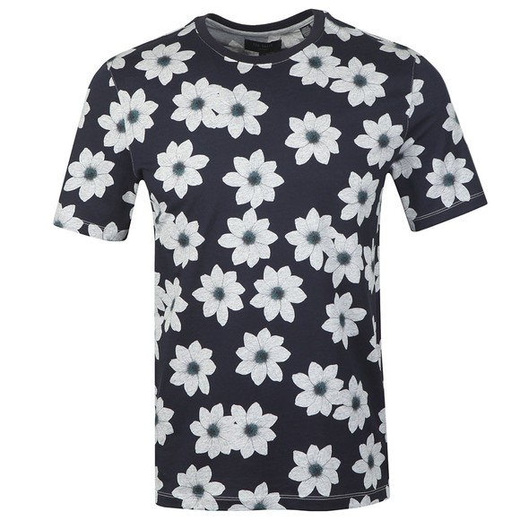 Ted Baker Mens Blue All Over Flower T-Shirt