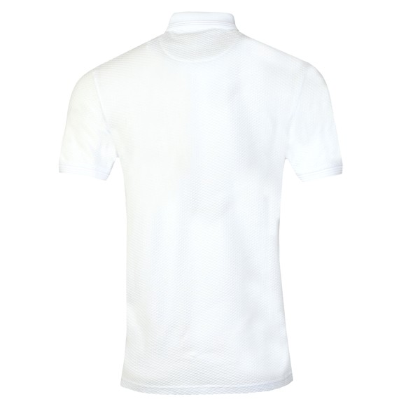 Ted Baker Mens White Textured Polo Shirt main image