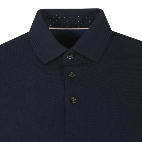 Ted Baker Mens Blue Textured Polo Shirt
